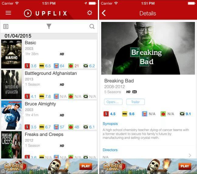 screen upflix ios - TOP APPS: 5 indicações de aplicativos para iOS - 07/11/2015