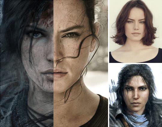 Daisy Ridley - Lara Croft - Tomb Raider / Rey - Star Wars