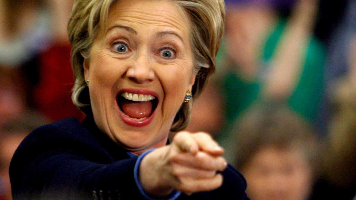 hillary clinton laughing - Buscador Bing já sabe quem venceu as Eleições Americanas