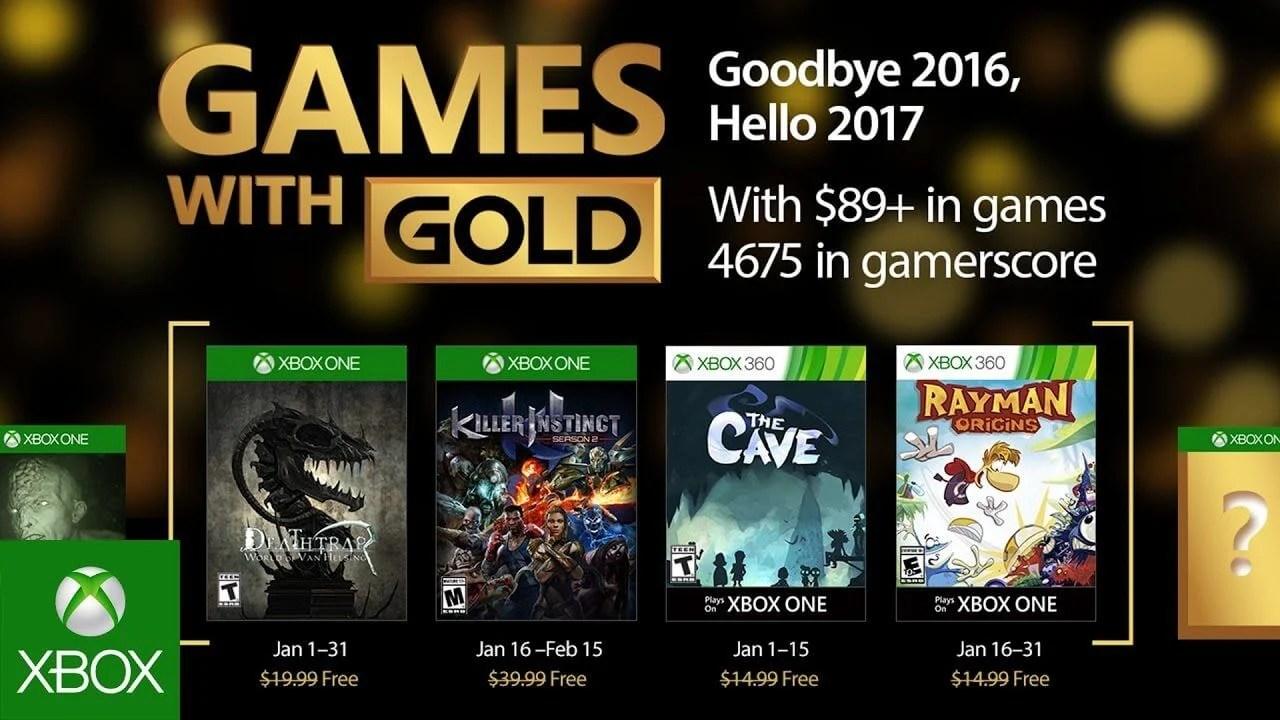 games with gold janeiro 2017 - Games with Gold: jogos grátis na Live para Janeiro de 2017