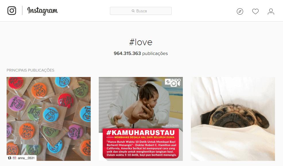 Hashtag #love é a mais utilizada no Brasil
