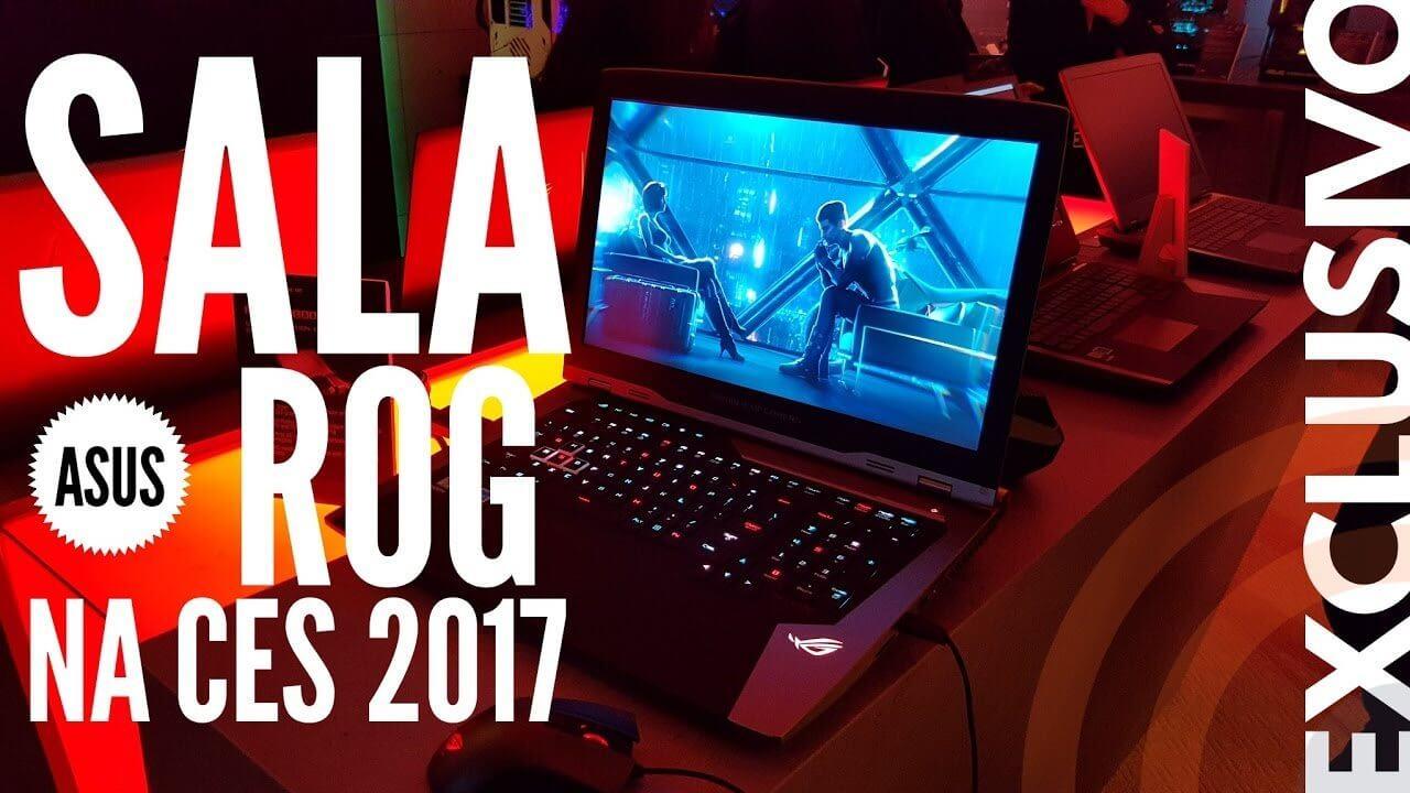 Showmetech na sala ROG - Exclusivo: visita especial à sala ASUS ROG na CES 2017 [vídeo]