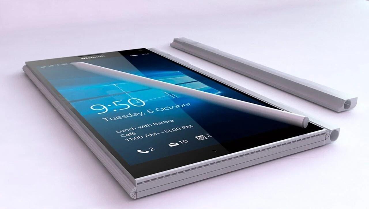Surface Phone Conceito - Surface Phone Dobrável? Patente da Microsoft revela dispositivo com tela flexível