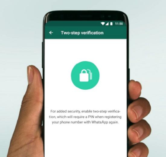 Tela da verificação de dois fatores no Android em inglês