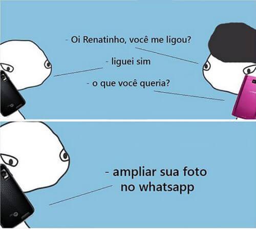 oi renatinho voce me ligou liguei sim o que voce 1301073 - WhatsApp ganha recurso do Snapchat; veja como funciona