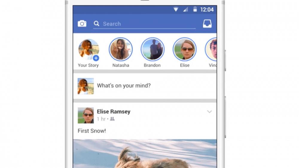 facebook stories 1 - Facebook Stories, clone do Snapchat, começa a aparecer no feed da rede social