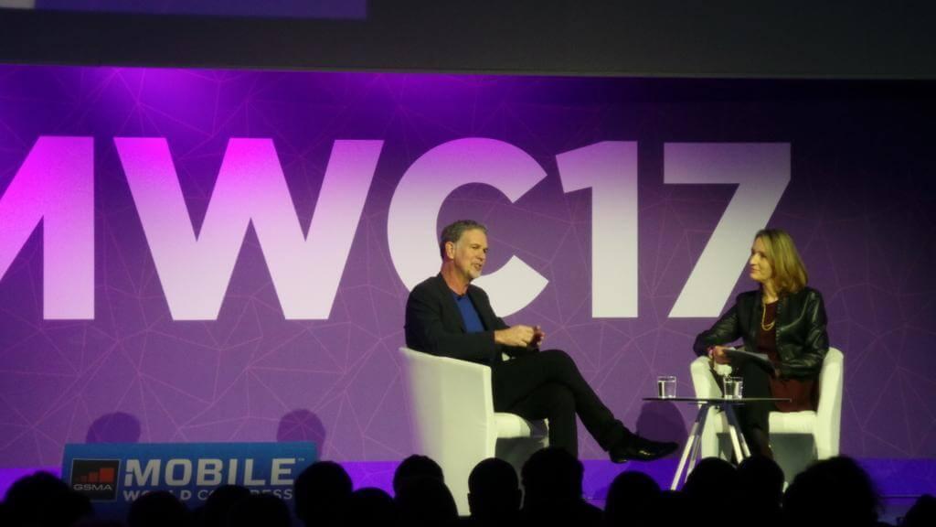 reed hastings netflix ceo mwc - MWC 2017: Em 20 anos, 90% do conteúdo que assistirmos estará online, diz presidente da Netflix