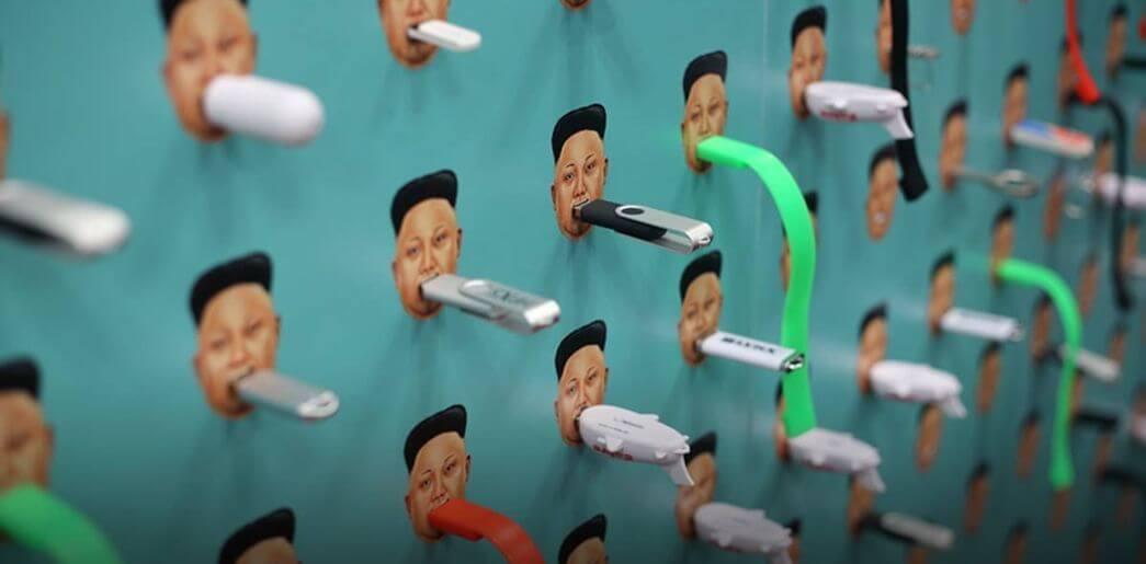 pendrive coreia do norte