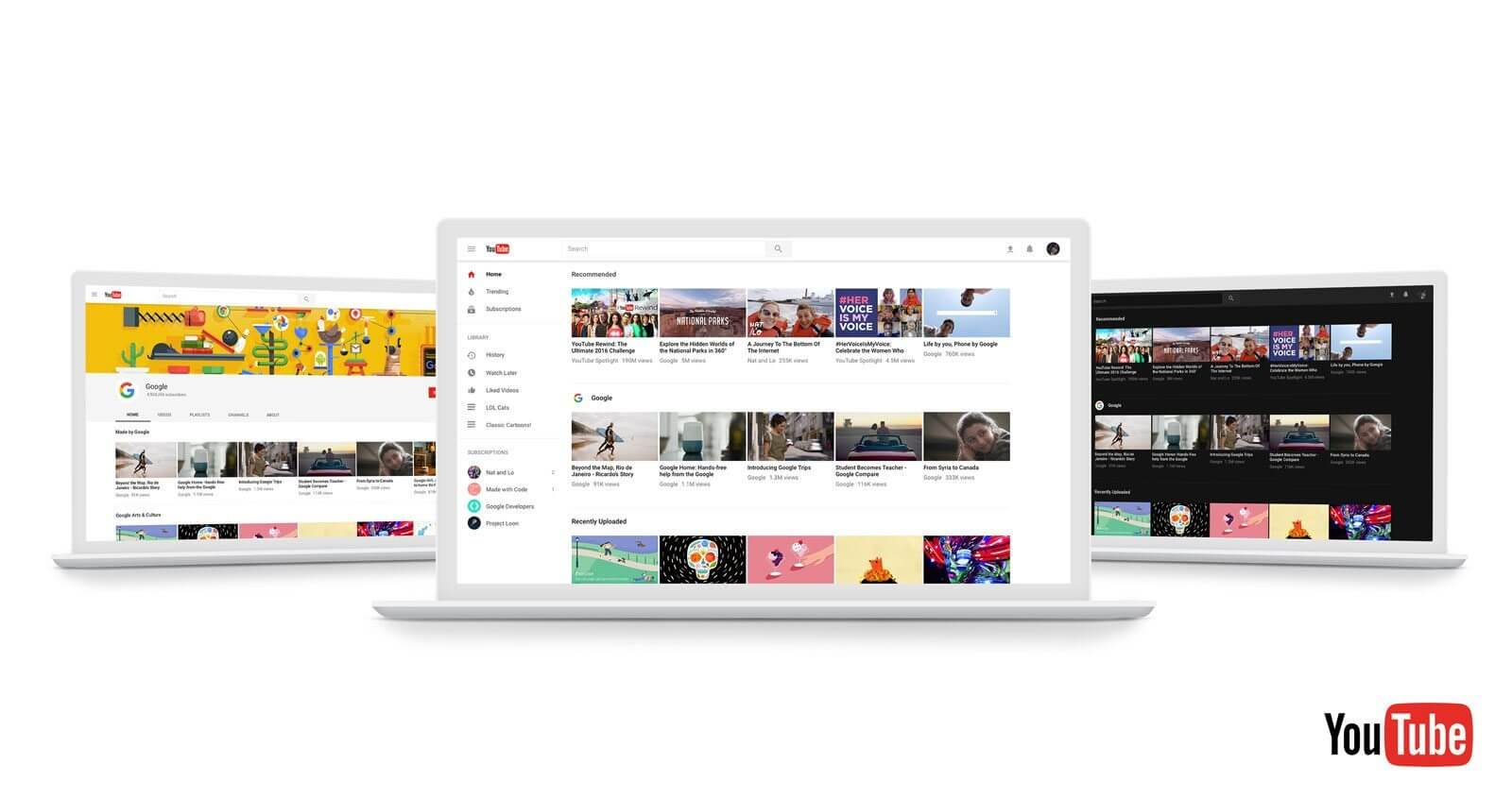 youtube ed - YouTube anuncia modo escuro e redesign do site