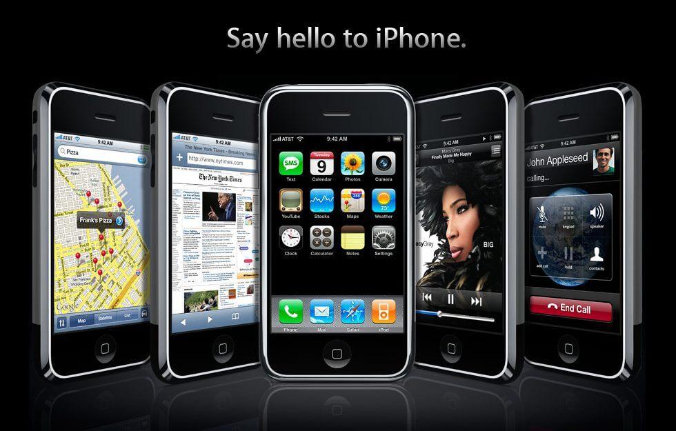iphone 2007 - #iPhone10: A evolução do iPhone pelo design