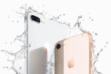 iPhone8Plus iPhone8 water 1 - Apple anuncia novos iPhone 8 e iPhone 8 Plus