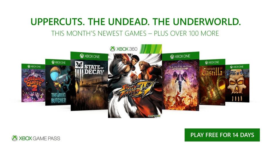 Xbox Game Pass: novos jogos em outubro de 2017