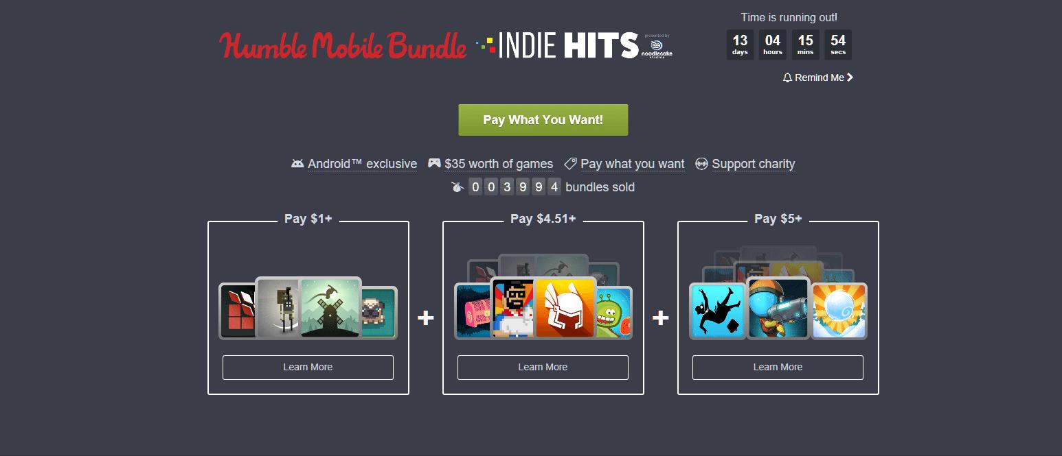 indie hits - Humble Mobile Bundle: por só US$ 5, tenha 11 jogos indies para Android