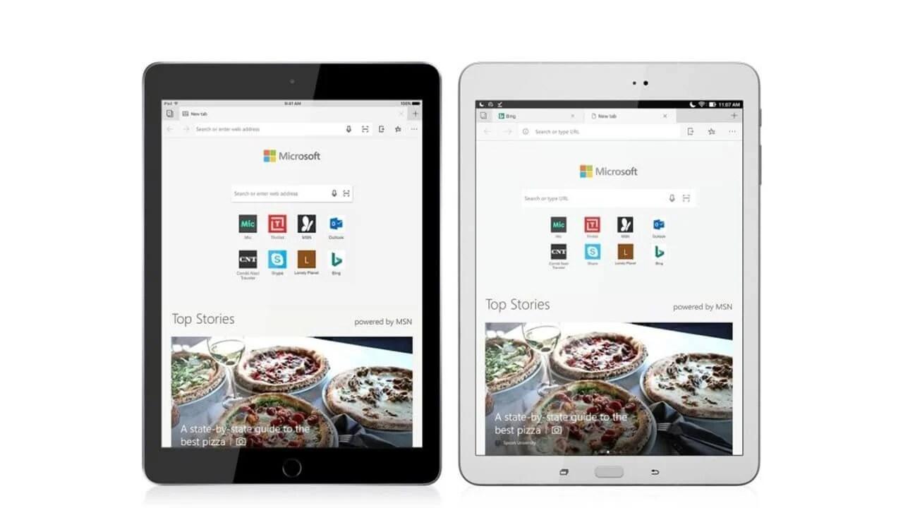 Microsoft Edge é lançado para tablets Android e iOS