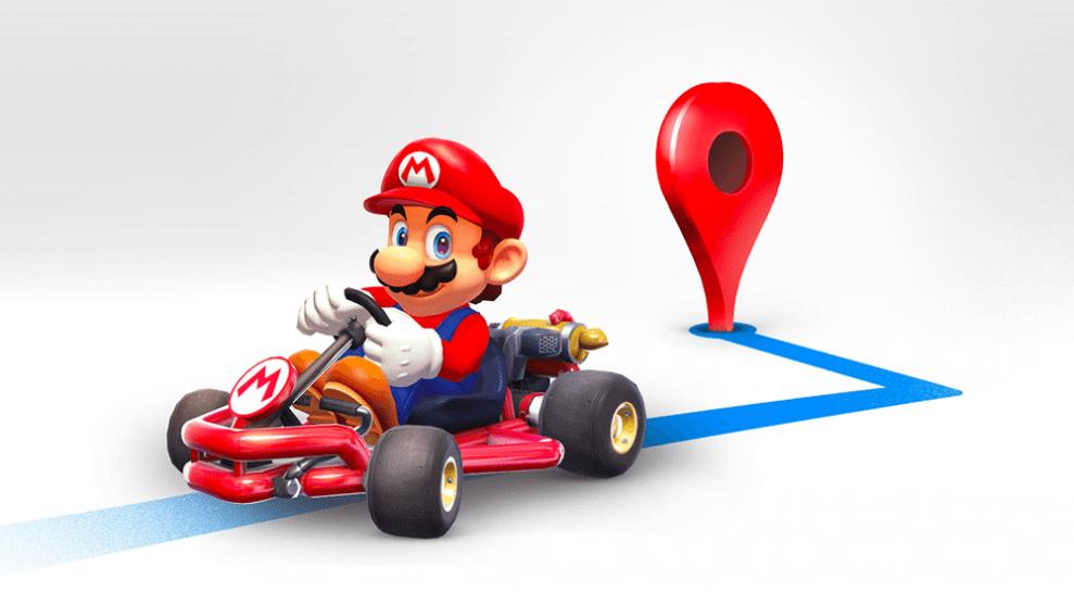 Mario vai te acompanhar nas viagens com o Google Maps. 4