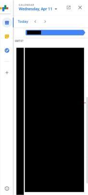 novo gmail - calendário