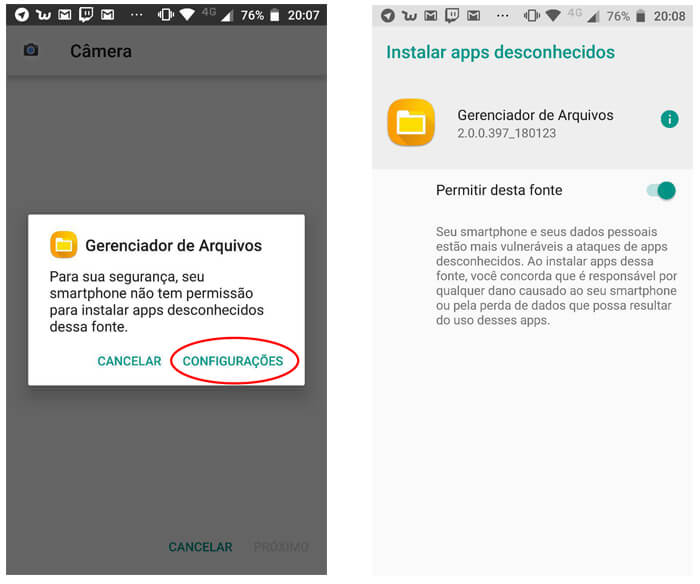 004 - Instalando aplicativos Android de Fontes Desconhecidas
