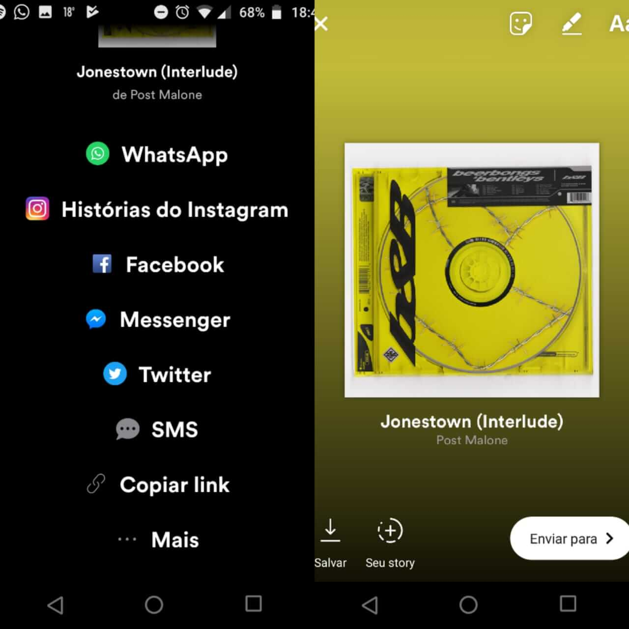 WhatsApp Image 2018 05 21 at 19.01.12 1 - Como compartilhar músicas do Spotify no Instagram