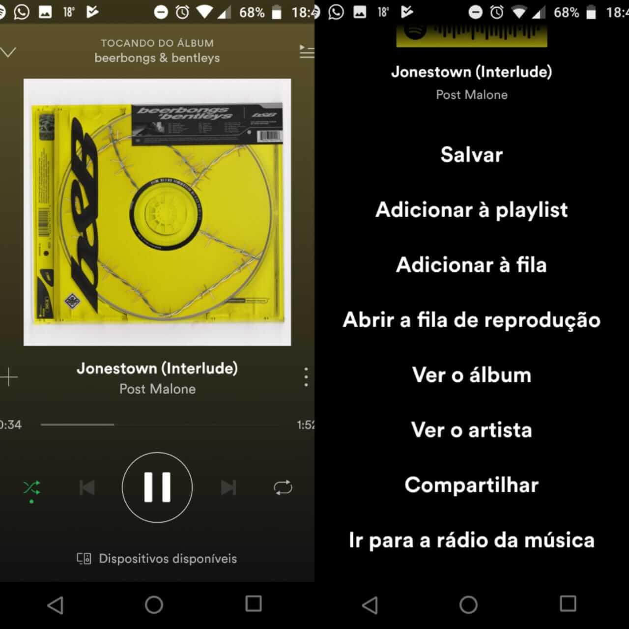 Como compartilhar músicas do Spotify no Instagram 6