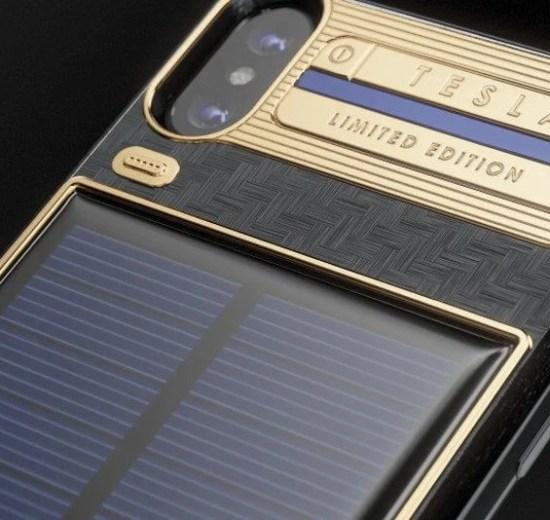 Da Caviar, conheça o iPhone X Tesla, capa para iPhone com painel solar 7