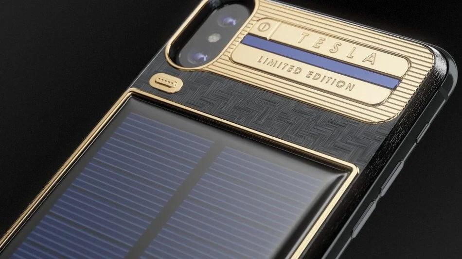 Da Caviar, conheça o iPhone X Tesla, capa para iPhone com painel solar 6
