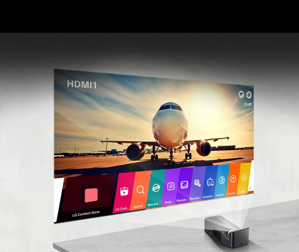 Cine Beam Smart TV PF1000UW, novo projetor de curta distância da LG chega ao Brasil 3