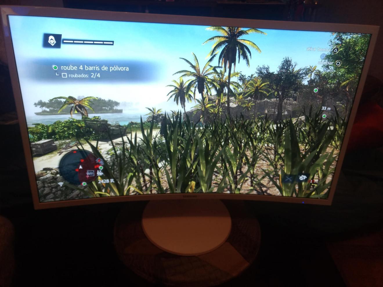 Review: monitor curvo Samsung C32F391 mescla imersão e elegância 9