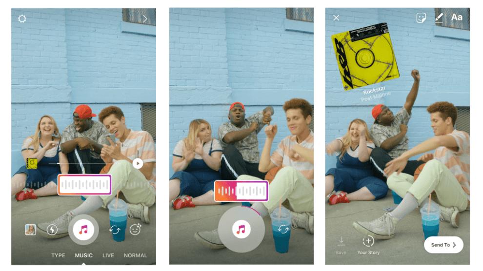 Instagram Stories terá trilha sonora 3