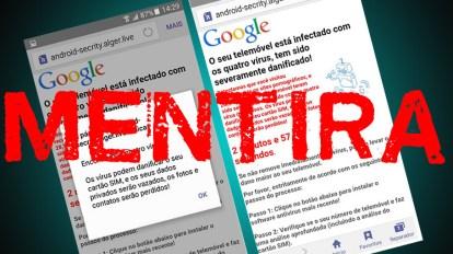"""mentira - Como remover o falso aviso dos """"quatro vírus"""" do seu Android"""