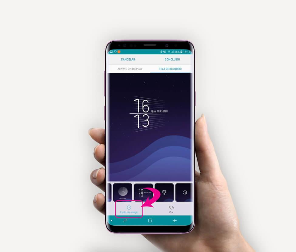 Tutorial: use Clock Face para alterar o estilo do relógio do Samsung Galaxy 7
