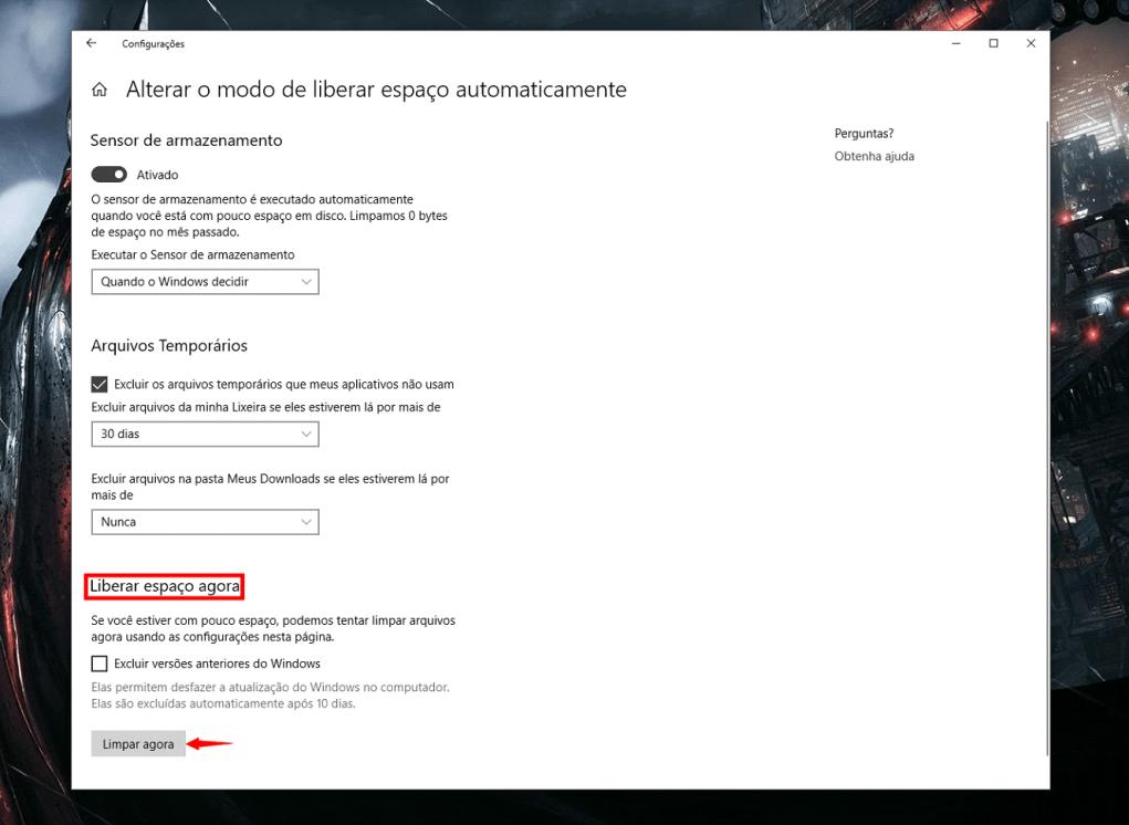Como limpar seu disco com a nova ferramenta automática do Windows 10 10