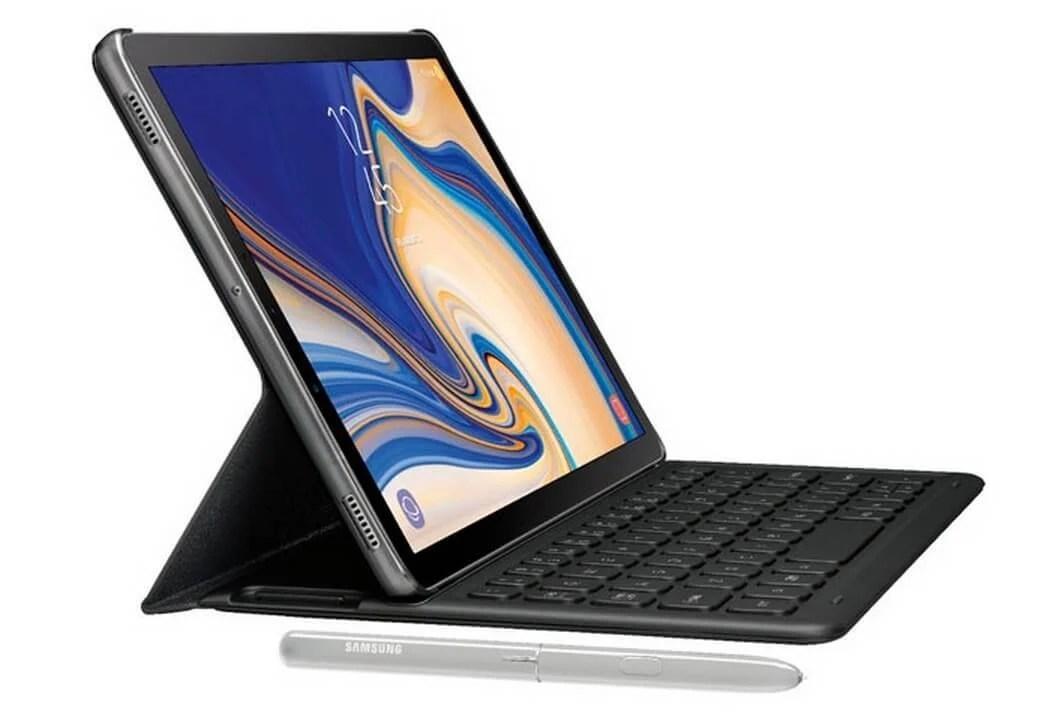 capa 3 - Galaxy Tab S4 surge em novo vazamento com capa teclado e caneta stylus