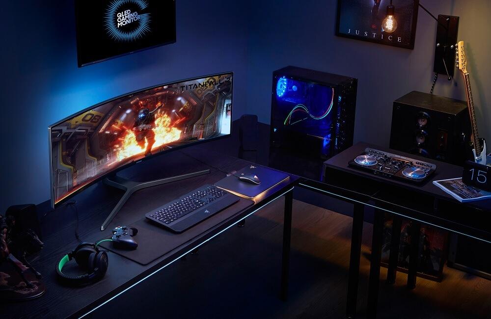 samsung 3 - Conheça o imponente monitor gamer da Samsung de 49 polegadas