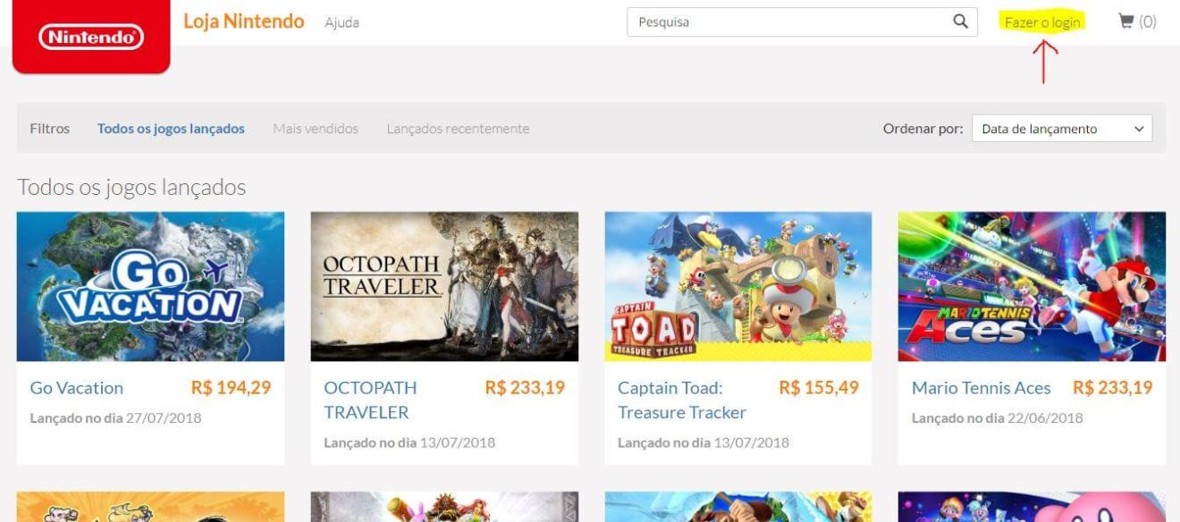 2 1 - Aprenda a fazer compras pela loja online da Nintendo no Brasil
