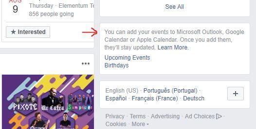Aprenda a sincronizar eventos do Facebook com o Google Calendar 5