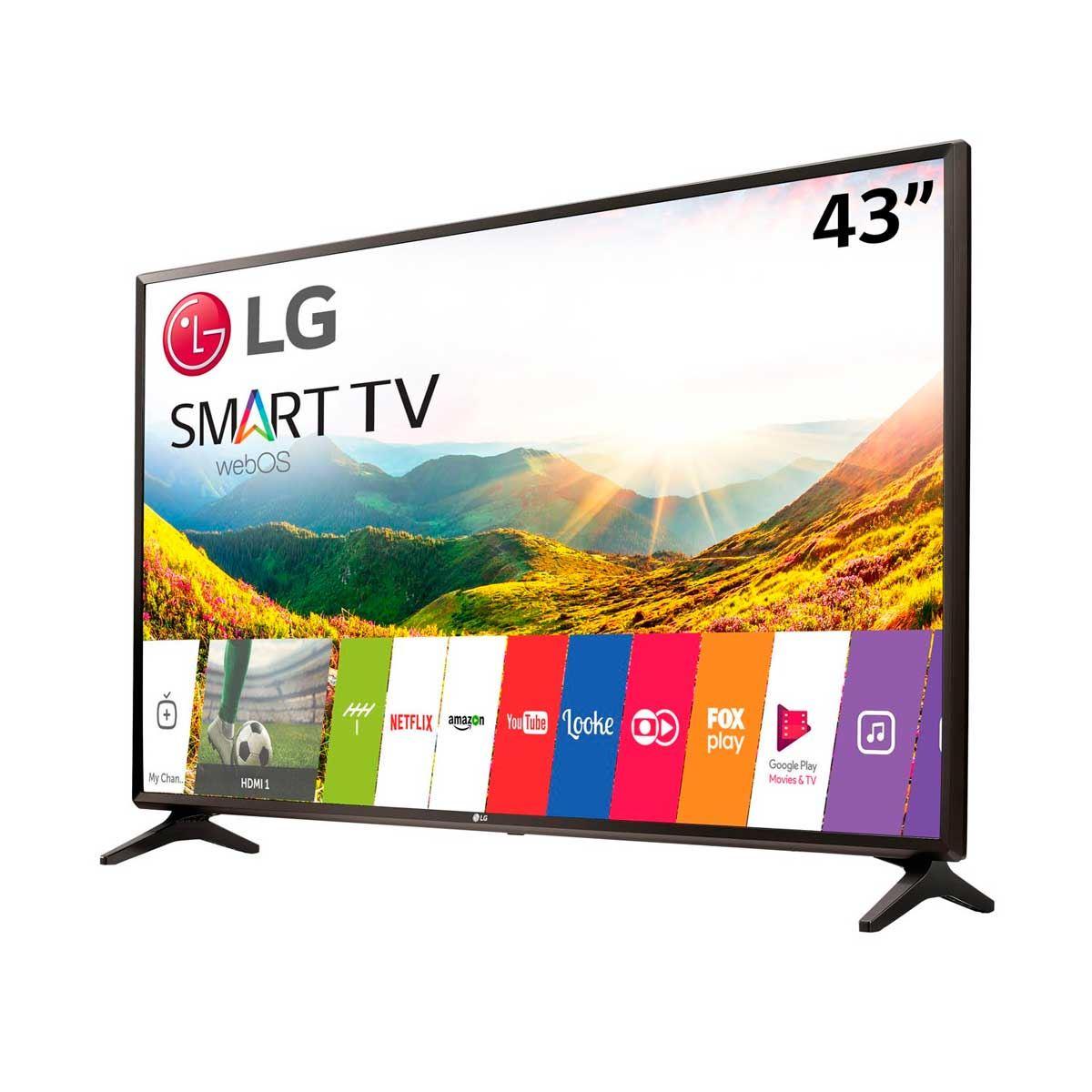 """Resultado de imagem para Smart TV LED 43"""" LG Full HD Netflix 43"""