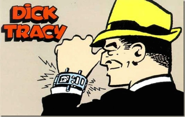 O relógio de Dick Tracy tem muito em comum com os Smartwatches atuais.