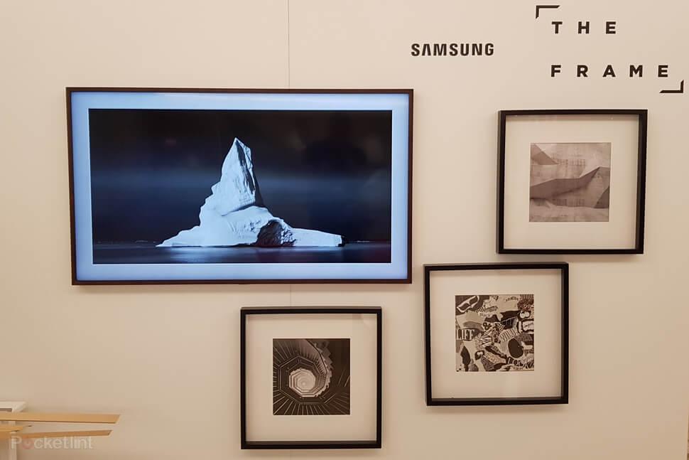 Imagem da The Frame, a TV da Samsung que exibe obras de arte quando está inativa.