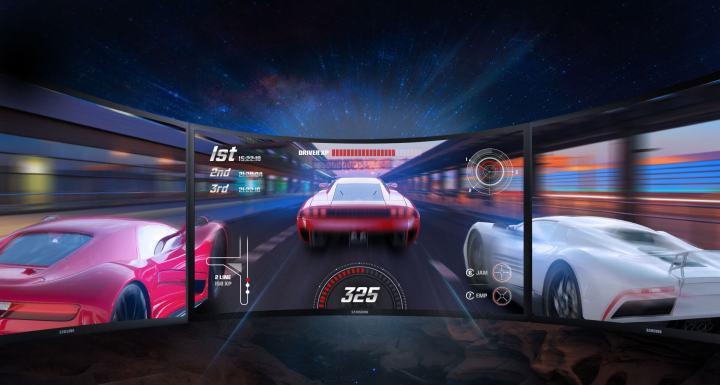 A tela curva é ideal para o gamer que busca por tecnologia de ponta.