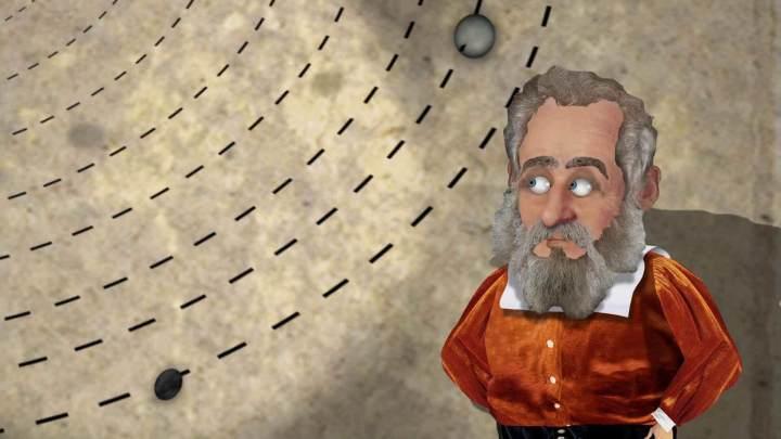 Desenho de Galileu em TV