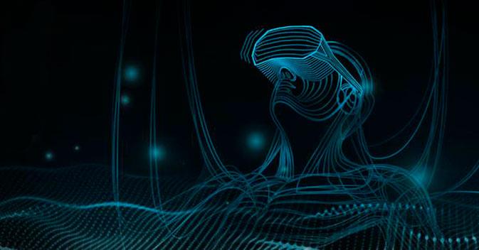 Imagem simulando uma realidade virtual