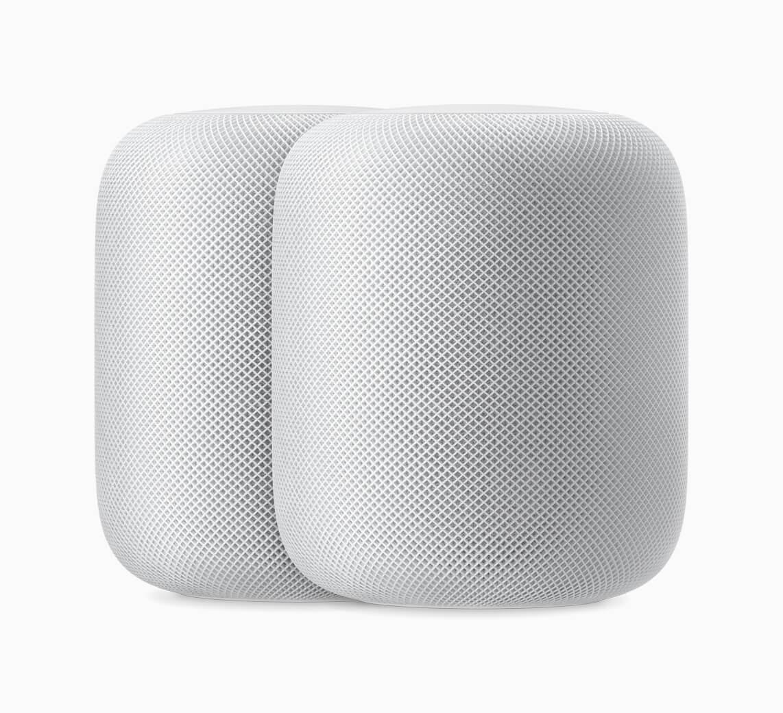 Apple HomePod 2up white 09122018 - HomePod: alto-falante inteligente tem novos idiomas e funcionalidades