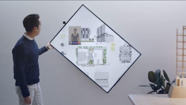 Rotação da tela é um dos novos recursos para o Surface Hub 2
