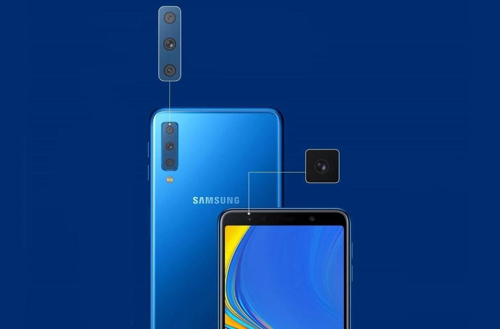 Samsung anuncia Galaxy A7 com câmera tripla e inteligente 3