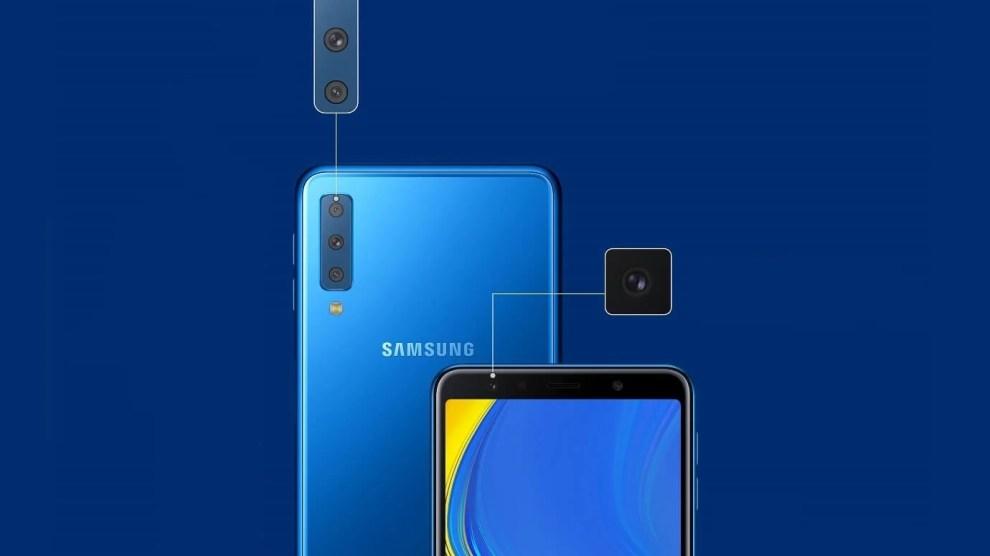 Samsung anuncia Galaxy A7 com câmera tripla e inteligente 4