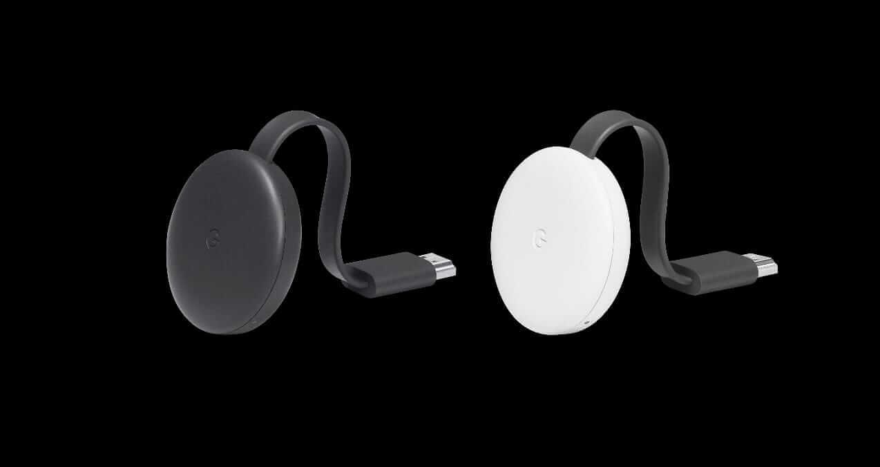 Imagem ilustrando os novos Chromecast,anunciados no eventos do Google