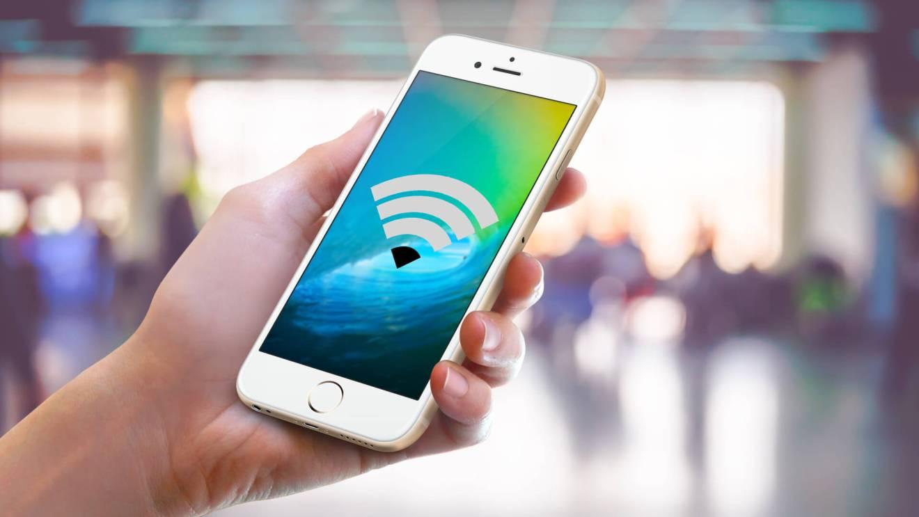 Smartphone conectado a internet via WI-Fi