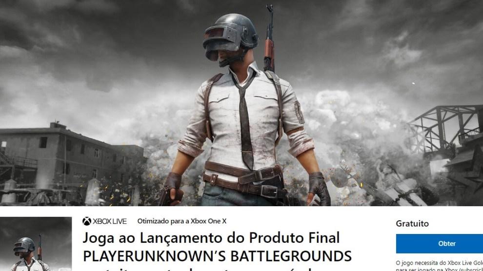 PUBG de graça no Xbox One