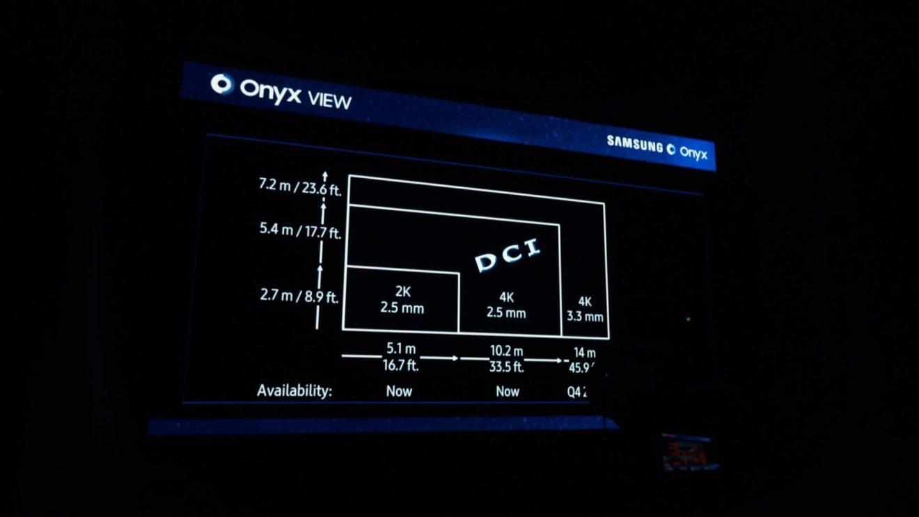 Samsung Onyx conta com 455 polegadas e resolução 4K (4.096 x 2.160 pixels)