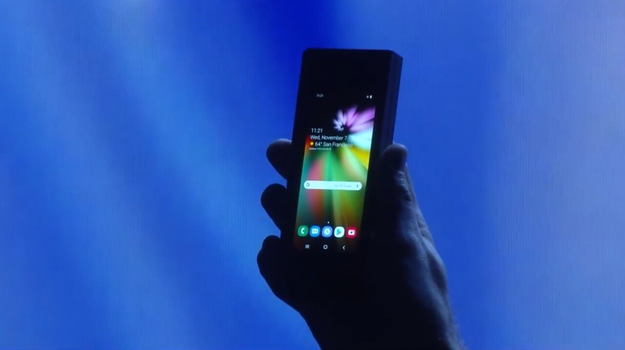 Novo smartpohne dobrável da Samsung